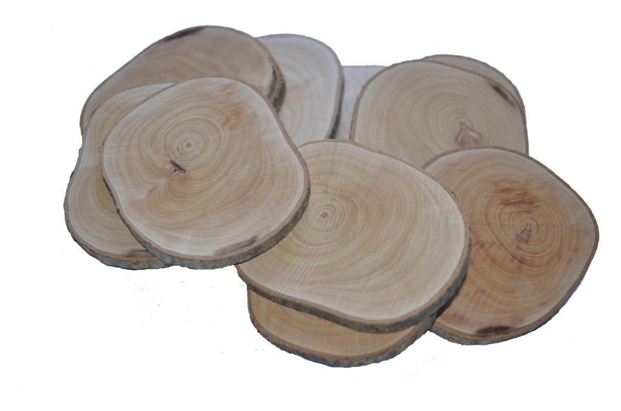 sachet de rondelles de bois 7 cm secret de barbotine
